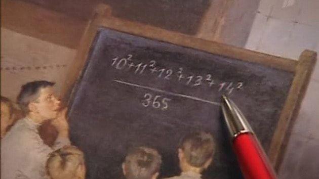 Устный счет по математике, дети учатся считать у доски в школе