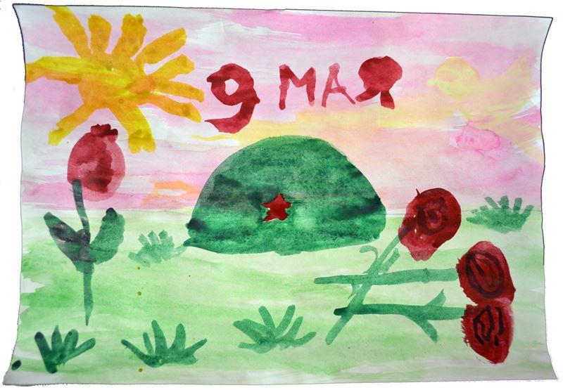 9 мая - рисунок в детском саду