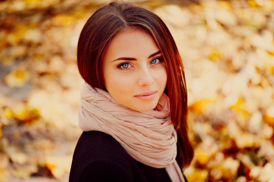 Фотография красивой девушки