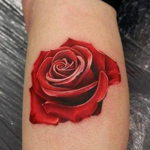 Тату розы на предплечье для женщин