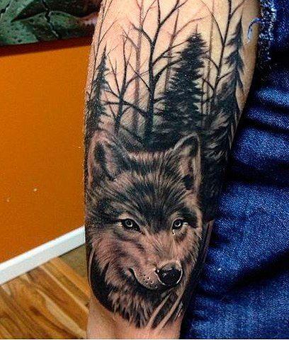 Тату волка для женщин и мужчин на руке