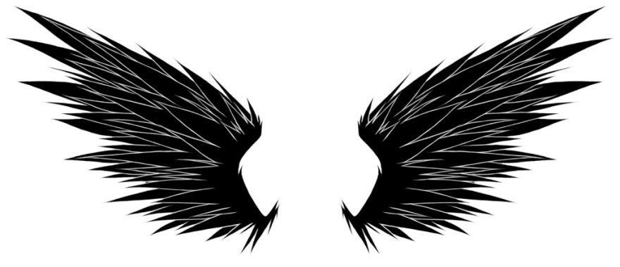 Эскиз для тату крыльев на груди для мужчин