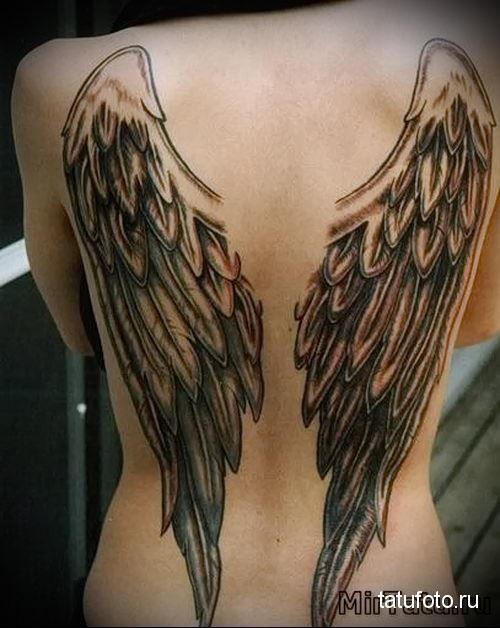 Ангел и крылья на спине для женщины