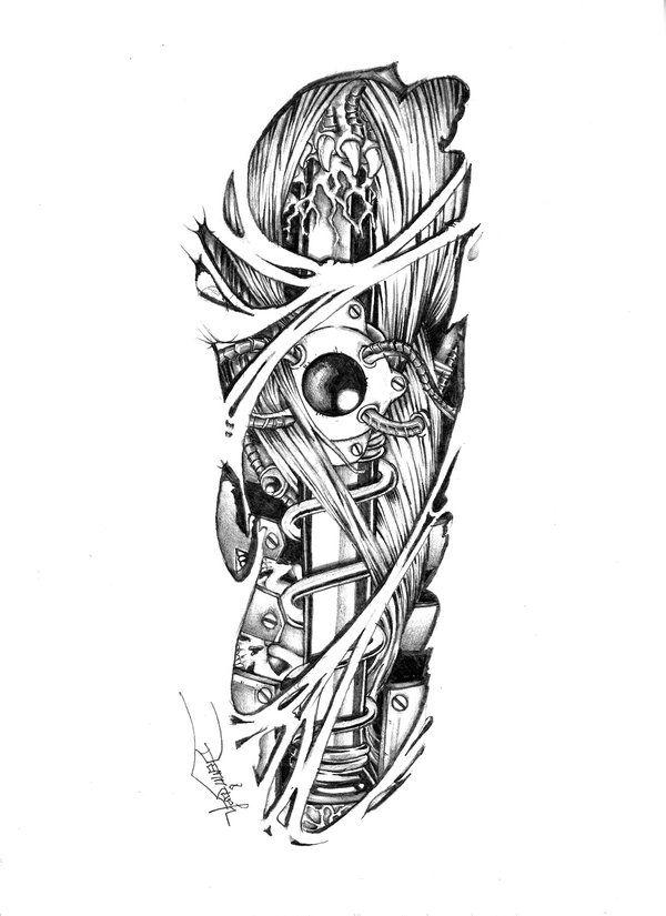 Черный эскиз тату на руку для женщин
