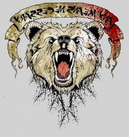 Рисунок медведя на кисти руки