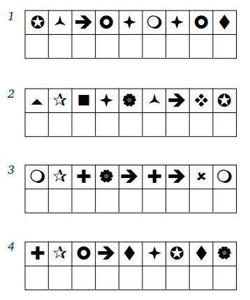 Упражнение 11 для тренировки памяти и внимания