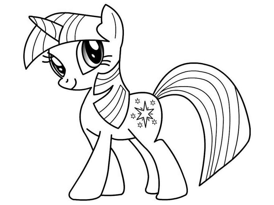 Смотреть красивую раскраску милая пони