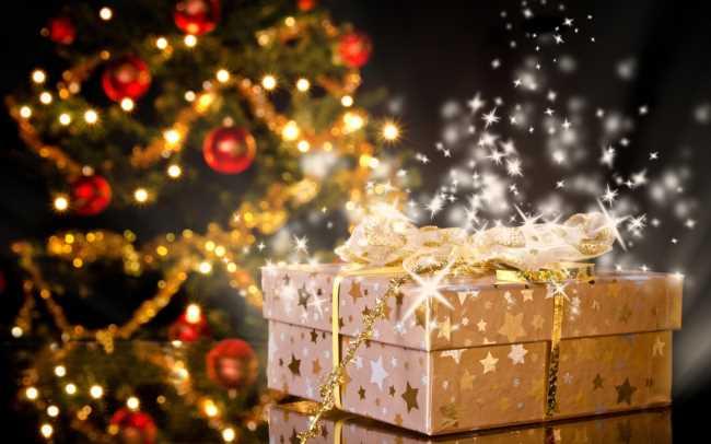 Подарок под елкой на новый год