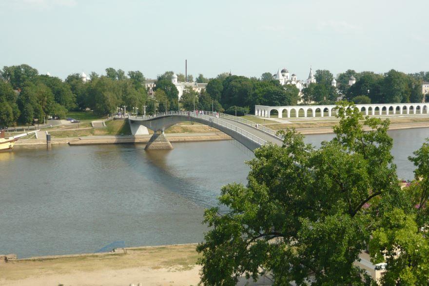 Красивый вид города Великий Новгород