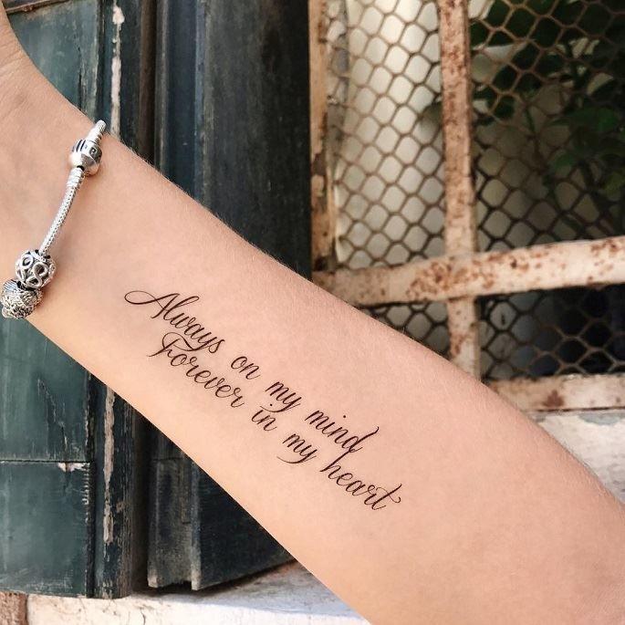 Тату надписи на руке для девушек с переводом