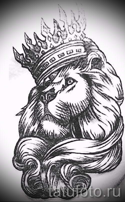 Тату льва на руку для мужчины