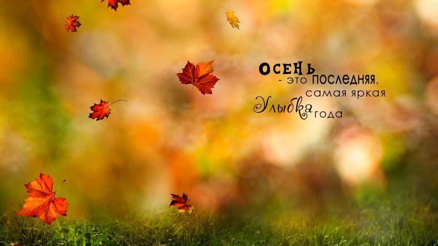 Красивая цитата про осень