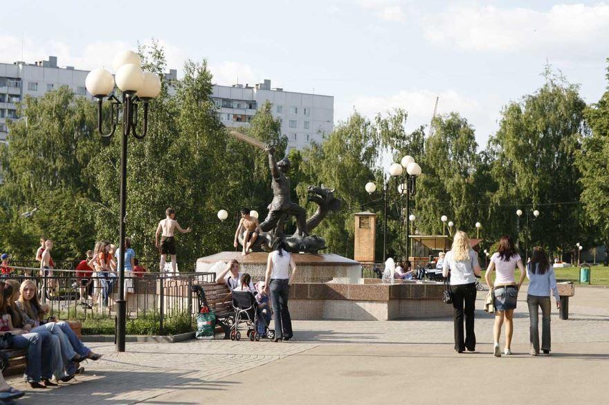 Скачать онлайн бесплатно лучшее фото фонтана города Видный в хорошем качестве