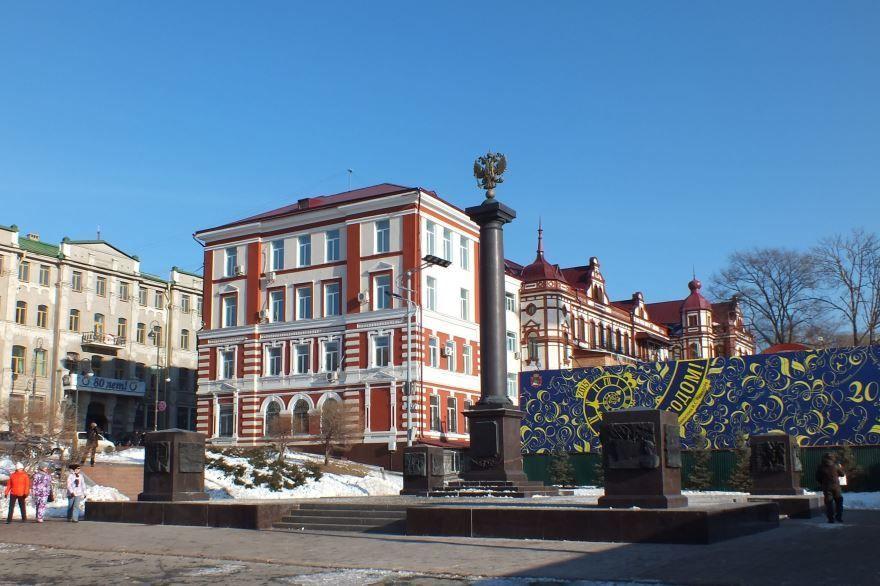 Стелла город Воинской славы Владивосток