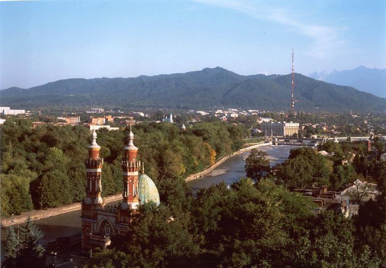 Красивый вид города Владикавказ
