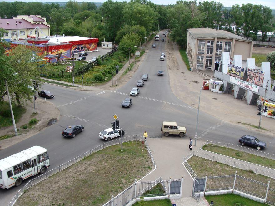 Вид сверху города Волжск