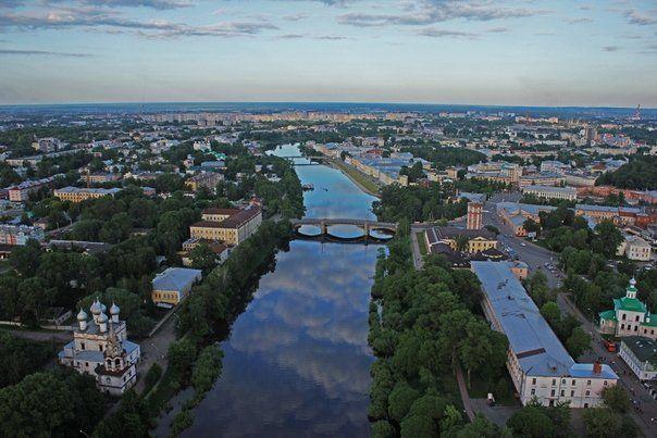 Смотреть красивый вид города Вологда онлайн бесплатно в хорошем качестве