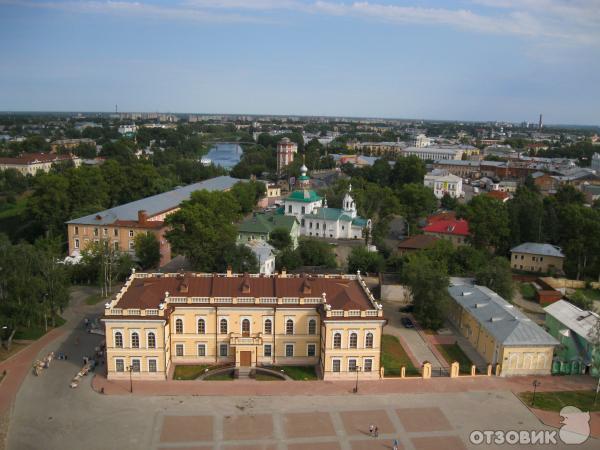 Смотреть великолепный вид сверху города Вологда в хорошем качестве