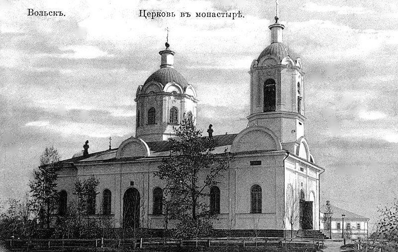 Смотреть красивое фото женского монастыря в городе Вольск