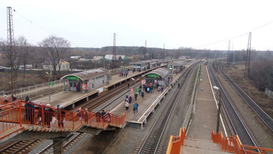 Скачать онлайн бесплатно красивое фото железнодорожного вокзала в городе Воскресенск