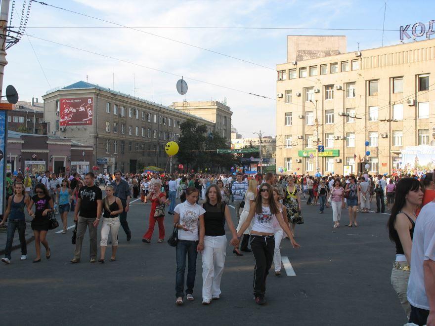 Смотреть красивое фото День города на площади Ленина в городе Воскресенск