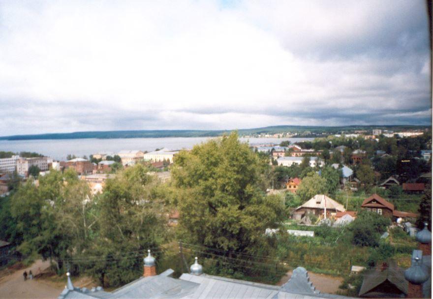 Смотреть оригинальный вид сверху города Воткинск в хорошем качестве
