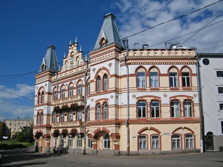 Смотреть красивое фото дом Дагермана город Выборг