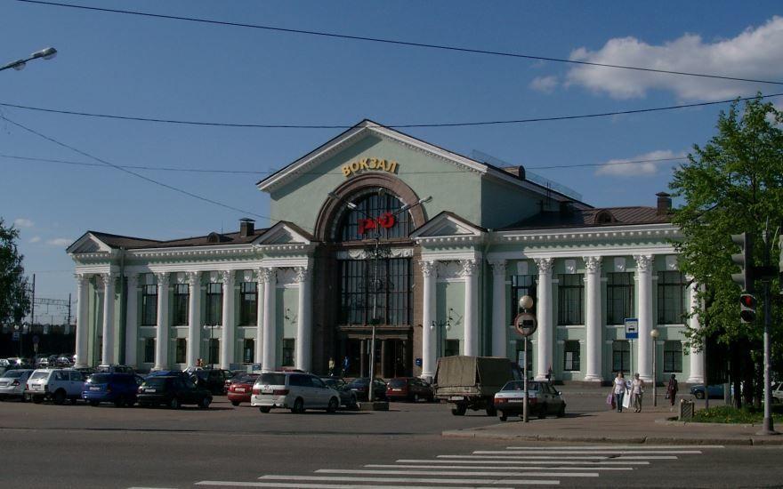 Смотреть красивый вокзал города Выборг в хорошем качестве