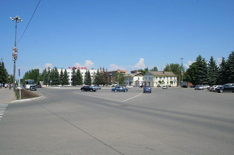 Смотреть красивое фото города Гагарин центральная площадь