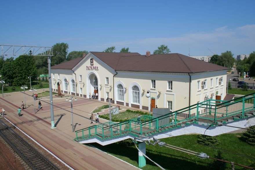 Смотреть лучшее фото железнодорожного вокзала города Гагарин в хорошем качестве