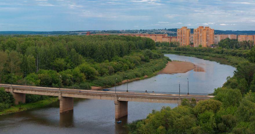 Смотреть красивое фото река города Глазов