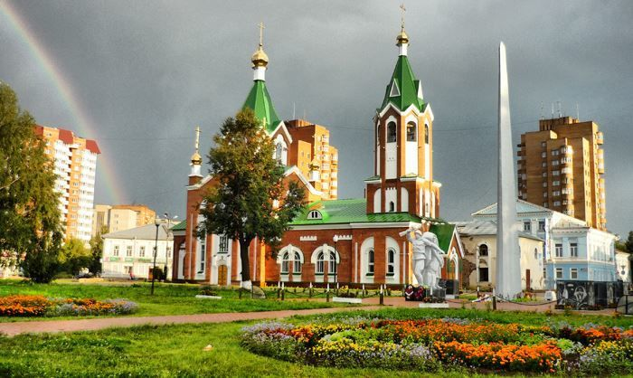 Спасо-Преображенский кафедральный собор города Глазов