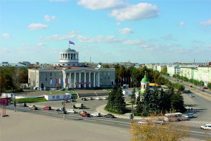 Смотреть красивый вид города Дзержинска в хорошем качестве