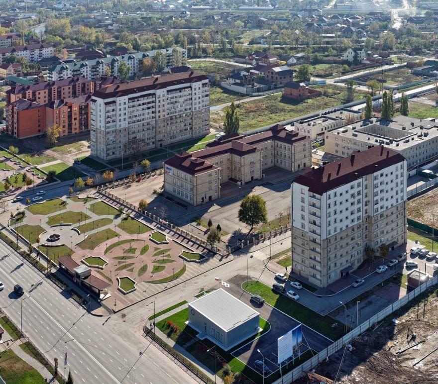 Смотреть необыкновенный вид сверху в хорошем качестве города Грозный