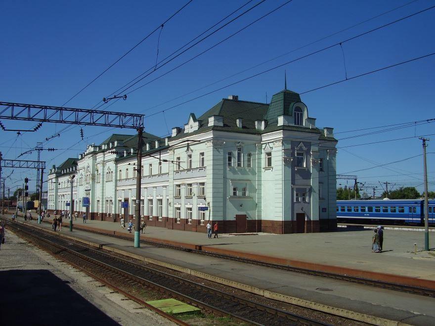 Железнодорожный вокзал города Грязи