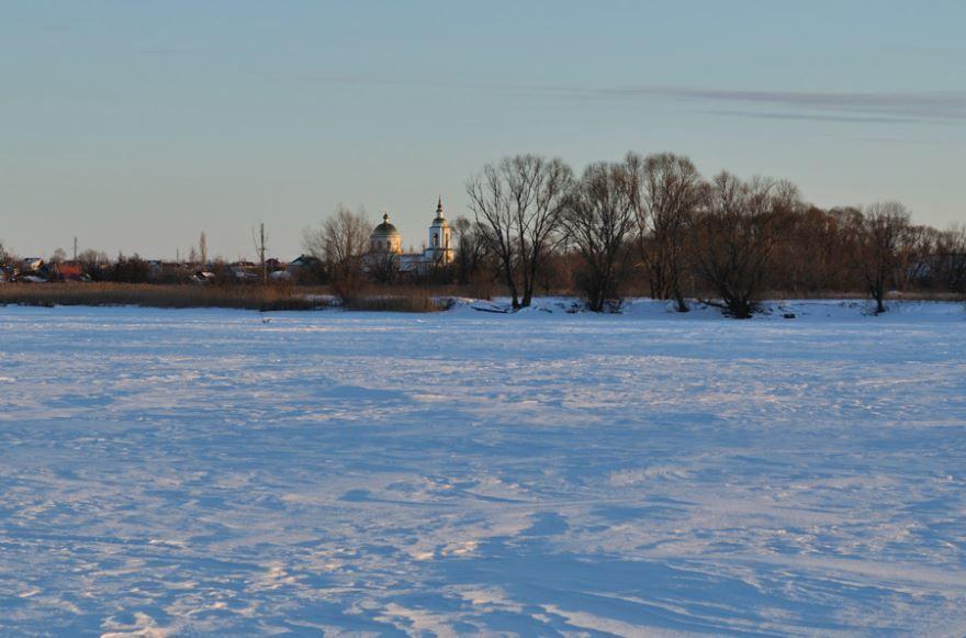 Зимний пейзаж в городе Грязи
