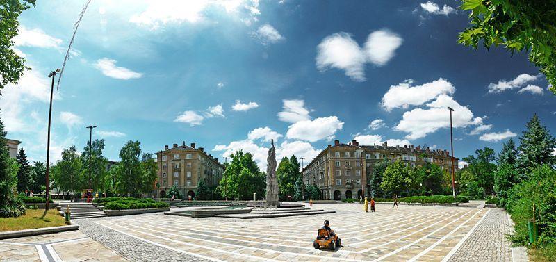Площадь Дружба в городе Димитровград
