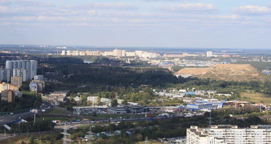 Смотреть лучшее фото панорама города Долгопрудный в хорошем качестве