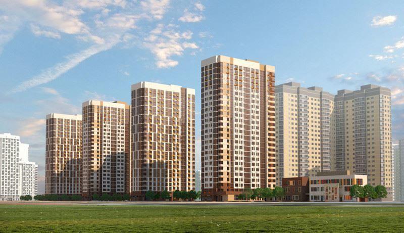 Жилищный комплекс центральный в городе Долгопрудный
