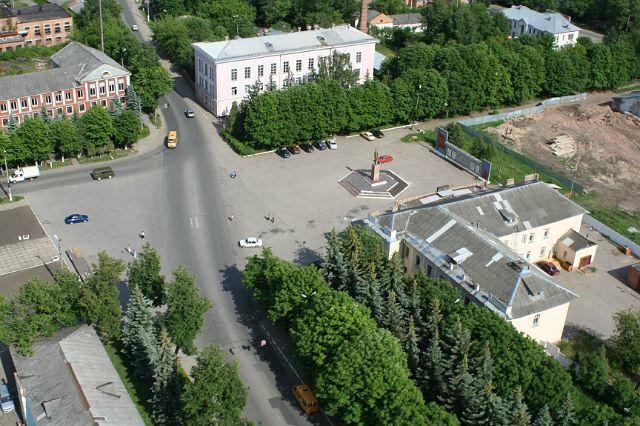 Смотреть красивый вид сверху город Донской