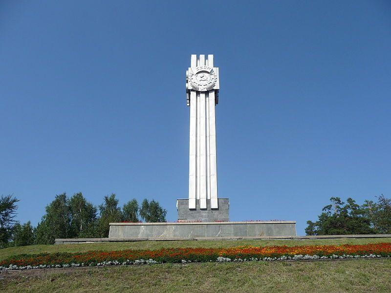 Обелиск Строителям города в городе Железногорск Красноярского края