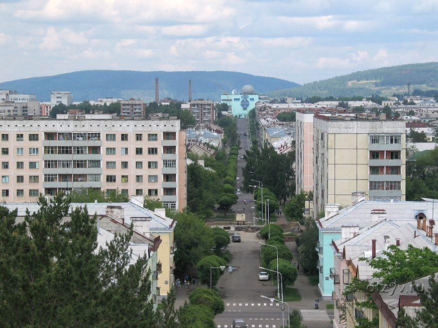 Смотреть красивый вид города Железногорск в хорошем качестве