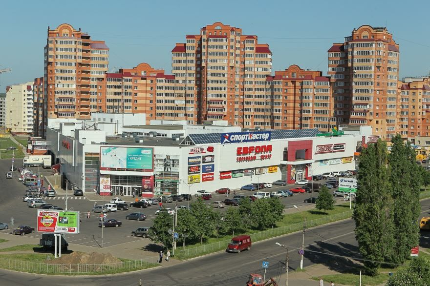 Красивый вид города Железногорск Курской области