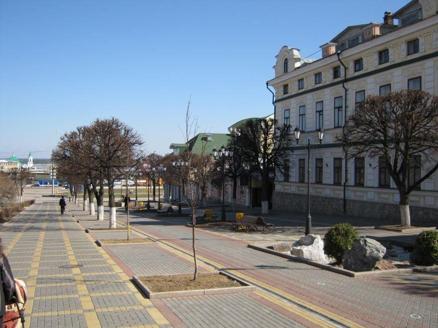 Бульвар купца Ефремова в городе Ефремов