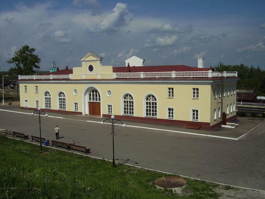Смотреть красивое фото железнодорожной станции в городе Ефремов