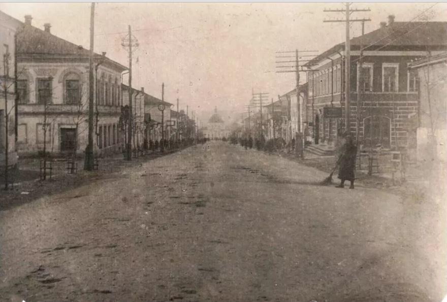 Смотреть старинное фото центра города Ефремов