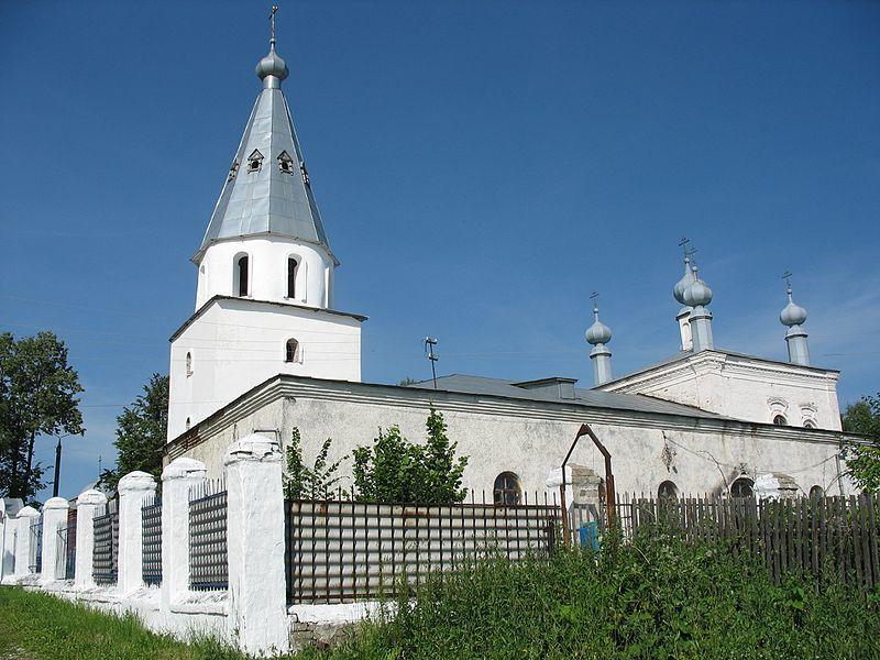 Смотреть красивое фото Церковь Богоявления в городе Заволжск