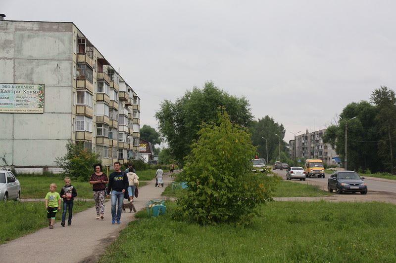 Скачать онлайн бесплатно красивую улицу города Заволжск в хорошем качестве