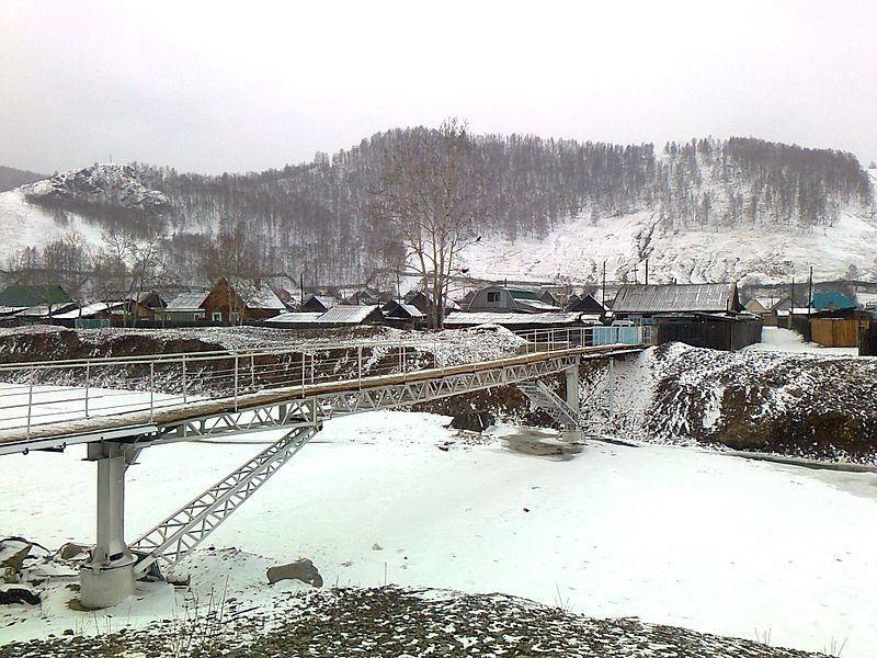Мост через речку Модонкуль в городе Закаменск