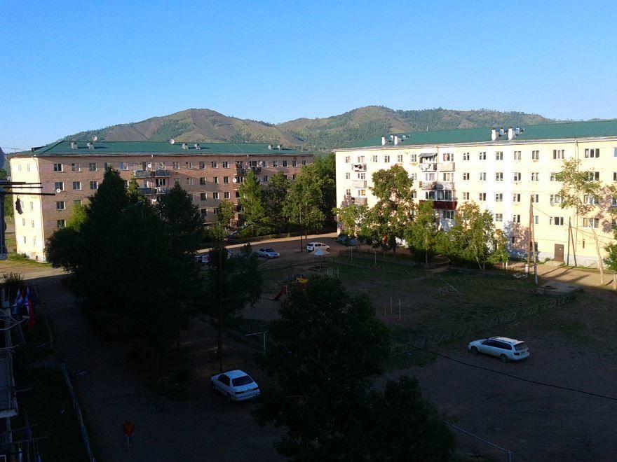 Скачать бесплатно красивое фото вид на город Закаменск
